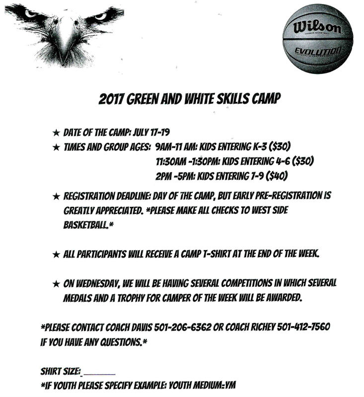 Basketball Camp is Monday-Wednesday