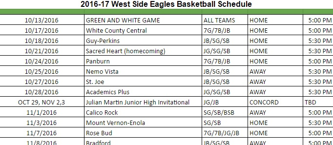 Preseason basketball games are next week; Homecoming is Oct. 21