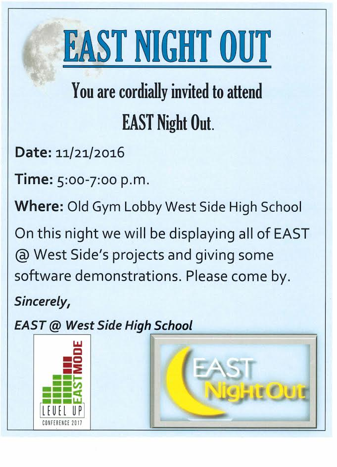 EAST Night Out is Monday